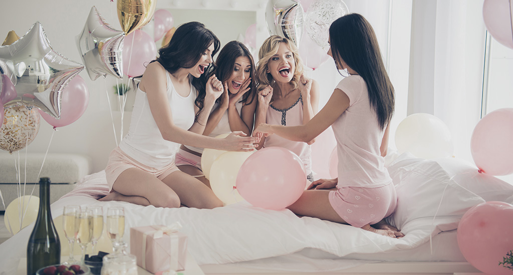 Bachelorette party after the engagement