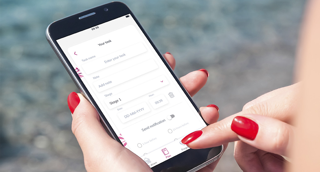 planning a wedding with mobile app
